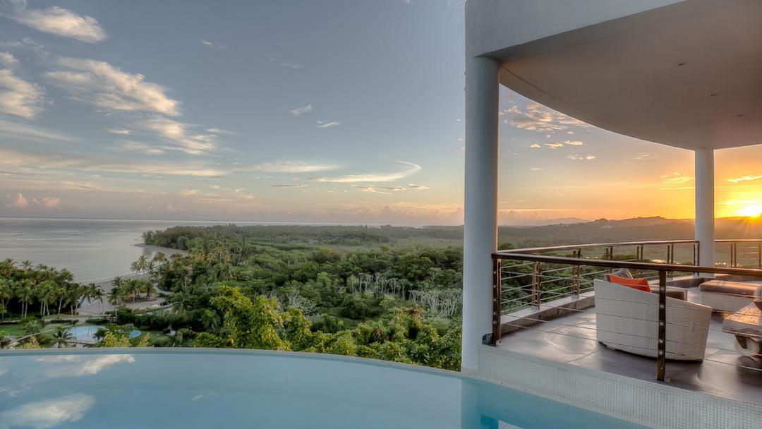 Spectacular ocean view from The Sphere in Las Terrenas