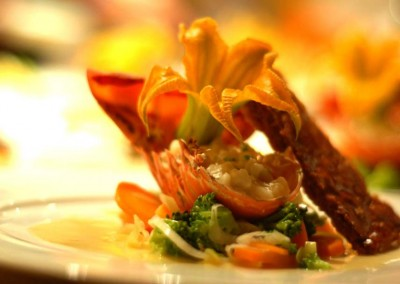 A plated menu by DOMINICAN EXPERT Catering