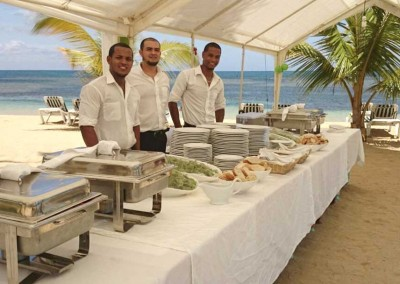 A buffet at one of our luxury villas by DOMINICAN EXPERT catering
