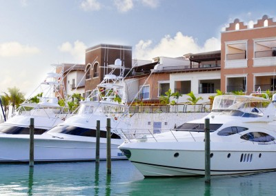 Yachts in the marina of Cap Cana