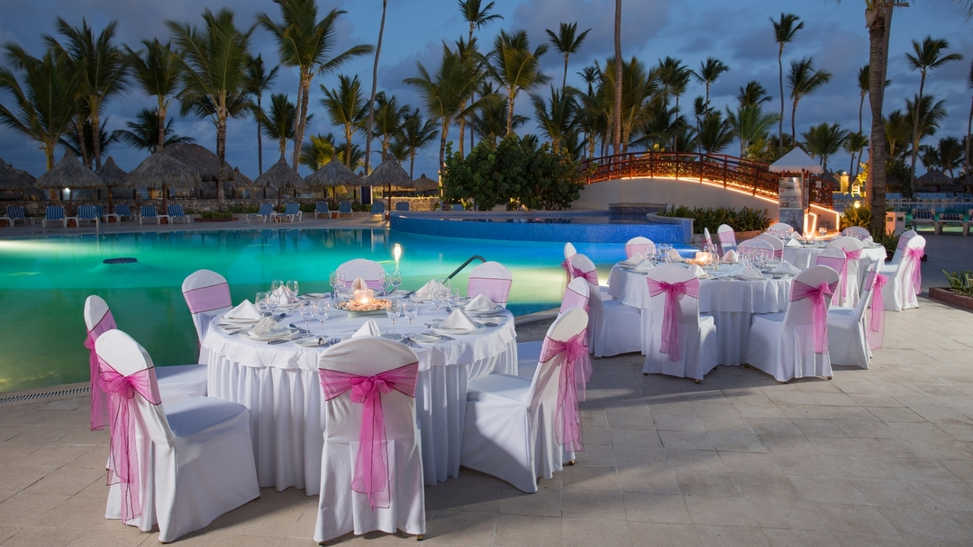 Wedding Dinner by the Pool at Grand Bahia Principe