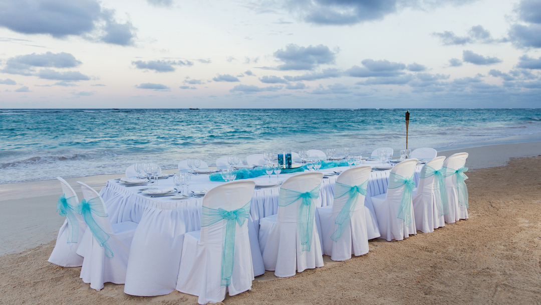 Wedding Dinner at the Beach at Bahia Principe