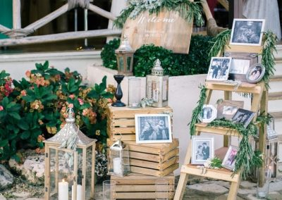 Rustic beach wedding decoration details