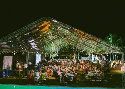 Private beachfront event