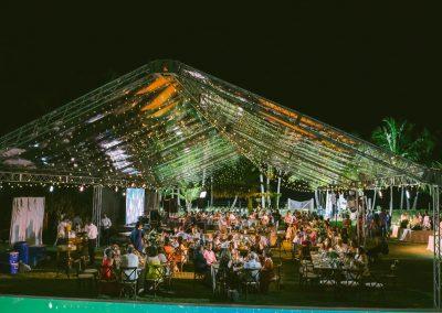 Private beachfront event
