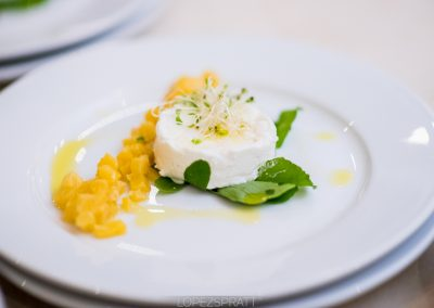 Goat cheese with pineapple chutney